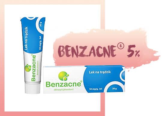 benzacne produkt niebieski