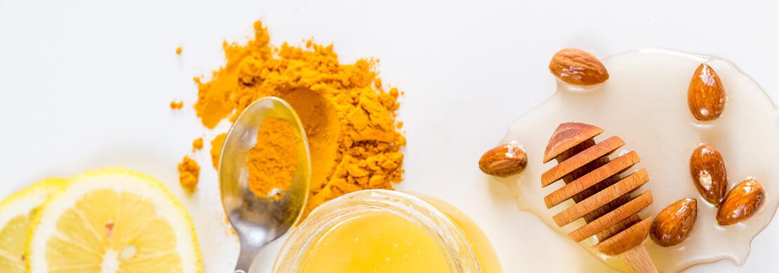 zdjęcie produktów cytryna miód kurkuma