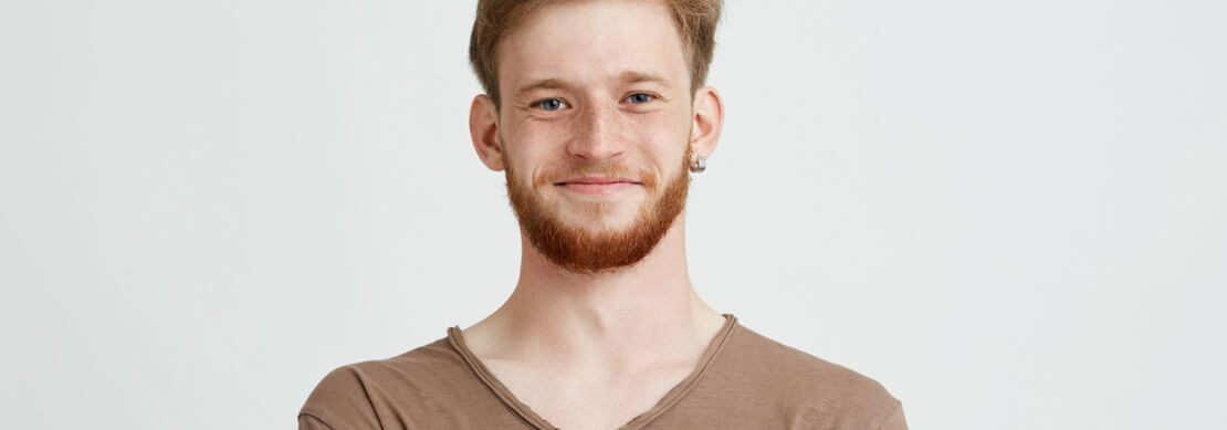 zdjęcie mężczyzny z zarostem